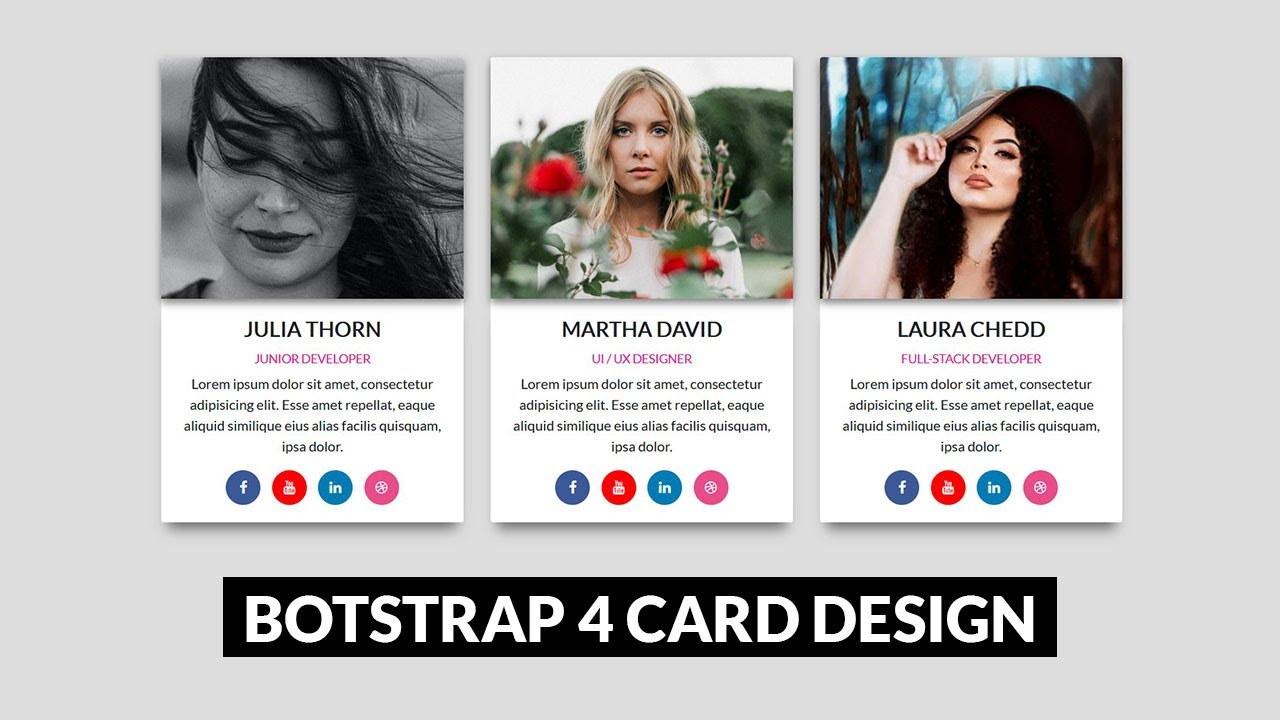 Bootstrap Cards Design | Bootstrap 4 Tutorial for Beginners