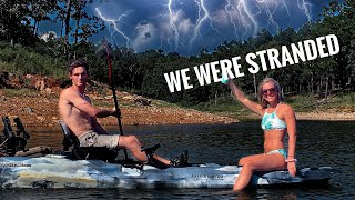 Camping in a THUNDERSTORM... *Fishing Br๐ken Bow, Oklahoma*