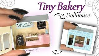 How to: Tiny Bakery Dollhouse w/ mini Cakes & Donuts - Polymer Clay Tutorial