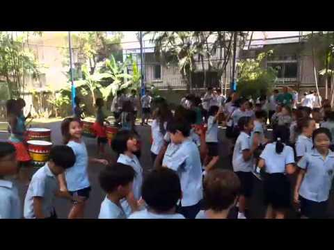 Bloco Malagasy Drum Band at Garden International School, Bangkok