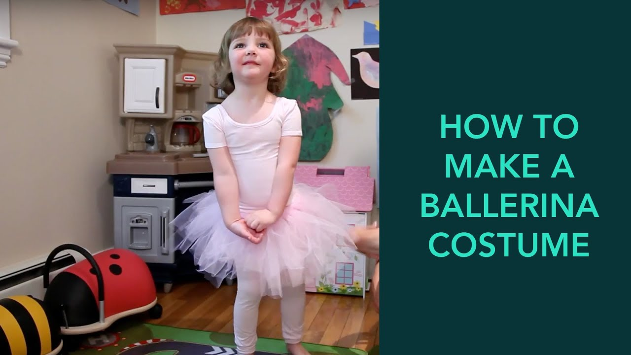 How To Make A Ballerina Costume Easy Diy Halloween Care Com