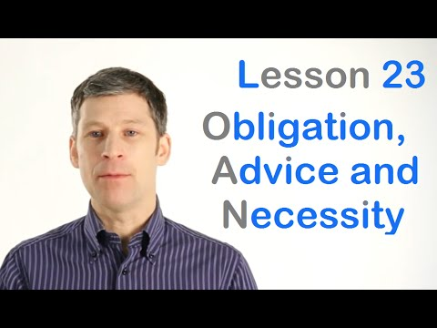 Obligation, Advice and Necessity