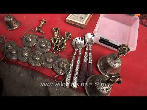 Colourful Tibetan tribal jewelry for sale in Ladakh