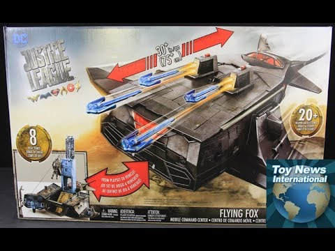 """Justice League Movie 6"""" Flying Fox Mobile Command Playset Review"""
