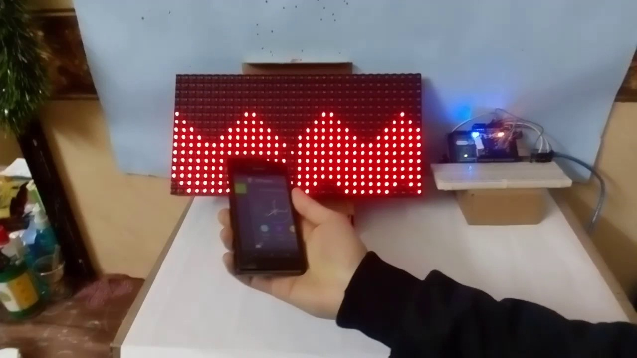 LED Matrix Wave Moves With Hand - Arduino Project Hub