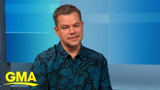 Matt Damon talks about new film 'Stillwater' l GMA