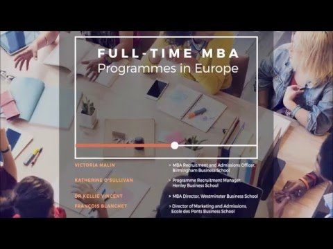 Full-Time MBA Programmes in Europe Podcast