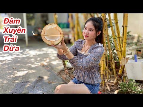Làm Sao Dùng Cây Nhang Đâm Xuyên Trái Dừa/ Ly Ngô Nhận Ngay 5 Triệu