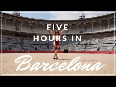 The one with rushing through Barcelona