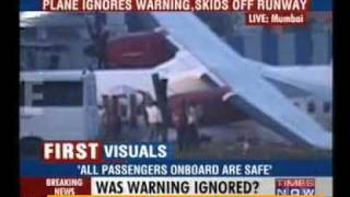 Kingfisher airlines falls off from runway while landing in Mumbai, no casualties reported