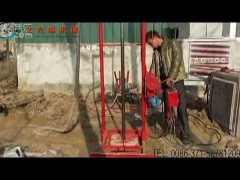 How to assemble and operate a portable water well drilling machine