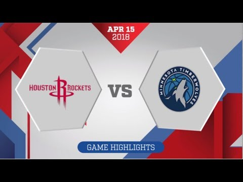 Minnesota Timberwolves vs Houston Rockets Game 1: April 15, 2018