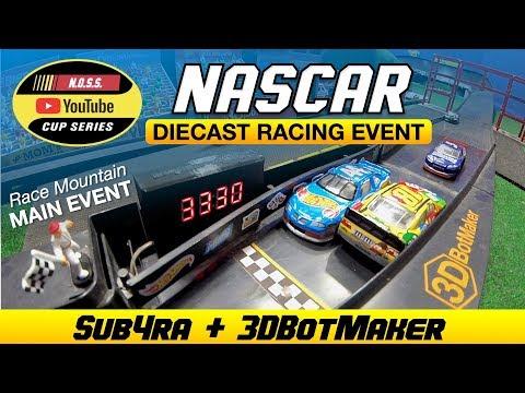 1:64 NASCAR Diecast Racing At Race Mountain Speedway Main Event - Hot Wheels