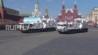 Russia: Jets fly overhead while troops fill Red Square for V-Day parade rehearsal