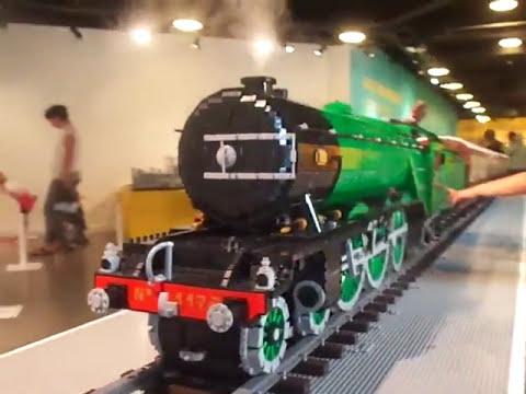 The *LEGO* Flying Scotsman at The Rheged Centre! (on 20/7/16) - YouTube