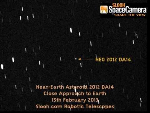 Near-Earth Asteroid 2012 DA14 Time-lapse - YouTube