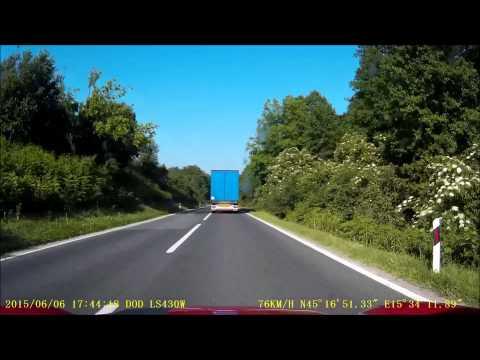 Dashcam - Plitvice Lakes, Croatia to just south of Ljubljana, Slovenia - 06 June 2015