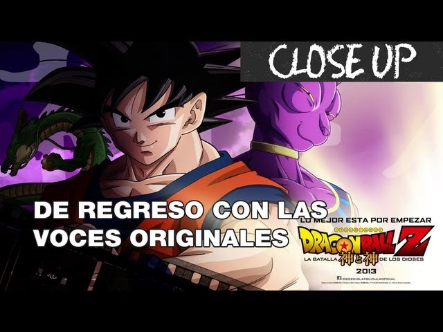 Voces Originales de Dragon Ball Z en La Batalla de los Dioses Videos De Viajes