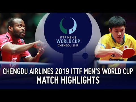Quadri Aruna vs Tomokazu Harimoto | 2019 ITTF Men's World Cup Highlights (R16)