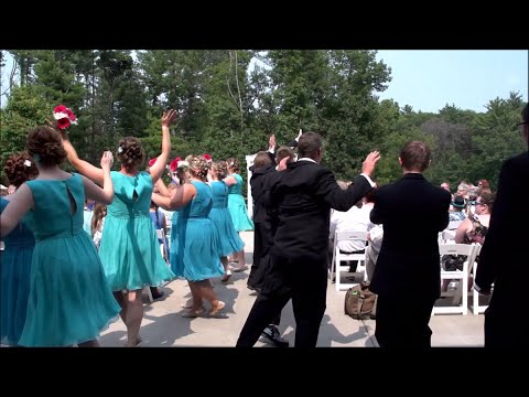 Wedding Dancing Down the Aisle Bruno Mars, Marry You Video