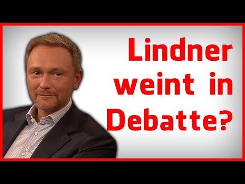 Christian Lindner kämpft bei 4vs1 Debatte mit den Tränen