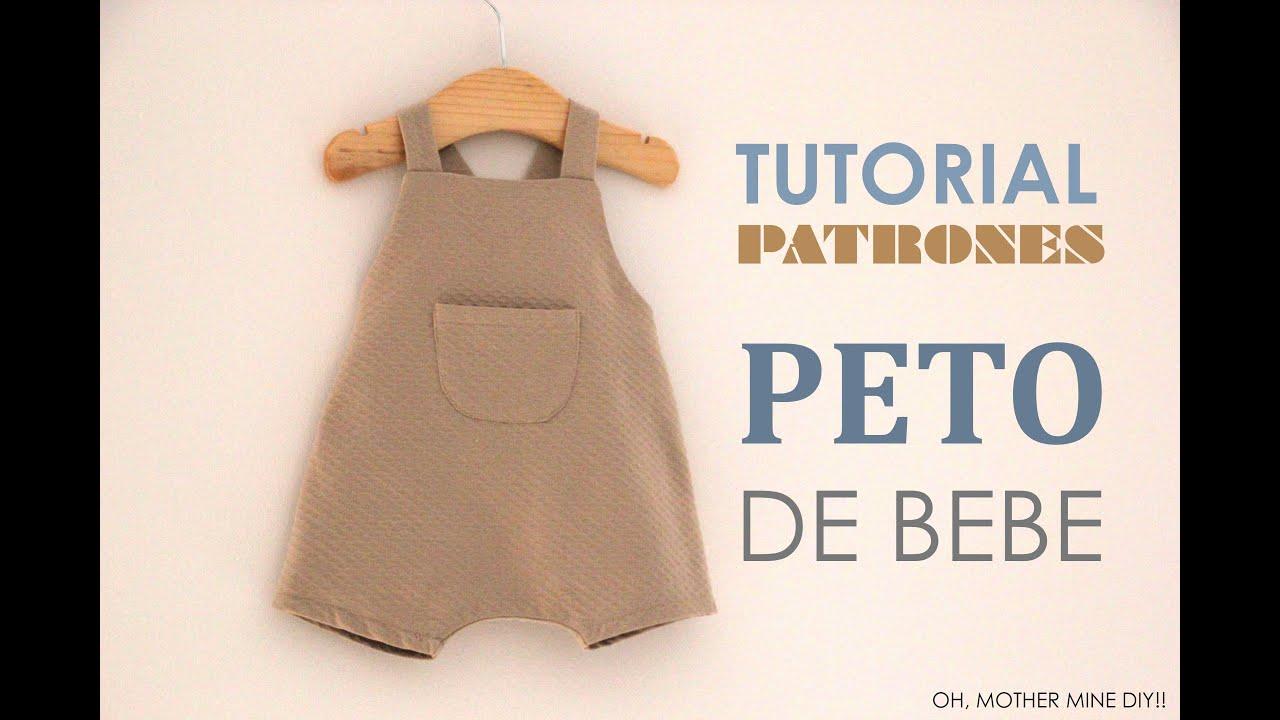 0f1cde11f DIY Tutoriales y patrones gratis  PETO DE BEBE - YouTube