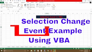 VBA Event ( Selection change Example)