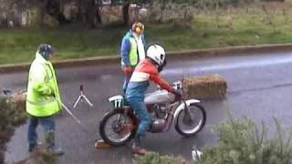 100MPH Honda CB175 CD175 Doing Wheelie Start In Catterick Classic Hill Climb Sprint Mike Johnson