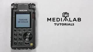 Tascam DR-100 MKIII Tutorial