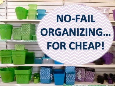 No Fail Organizing Process Using Dollar Tree Products