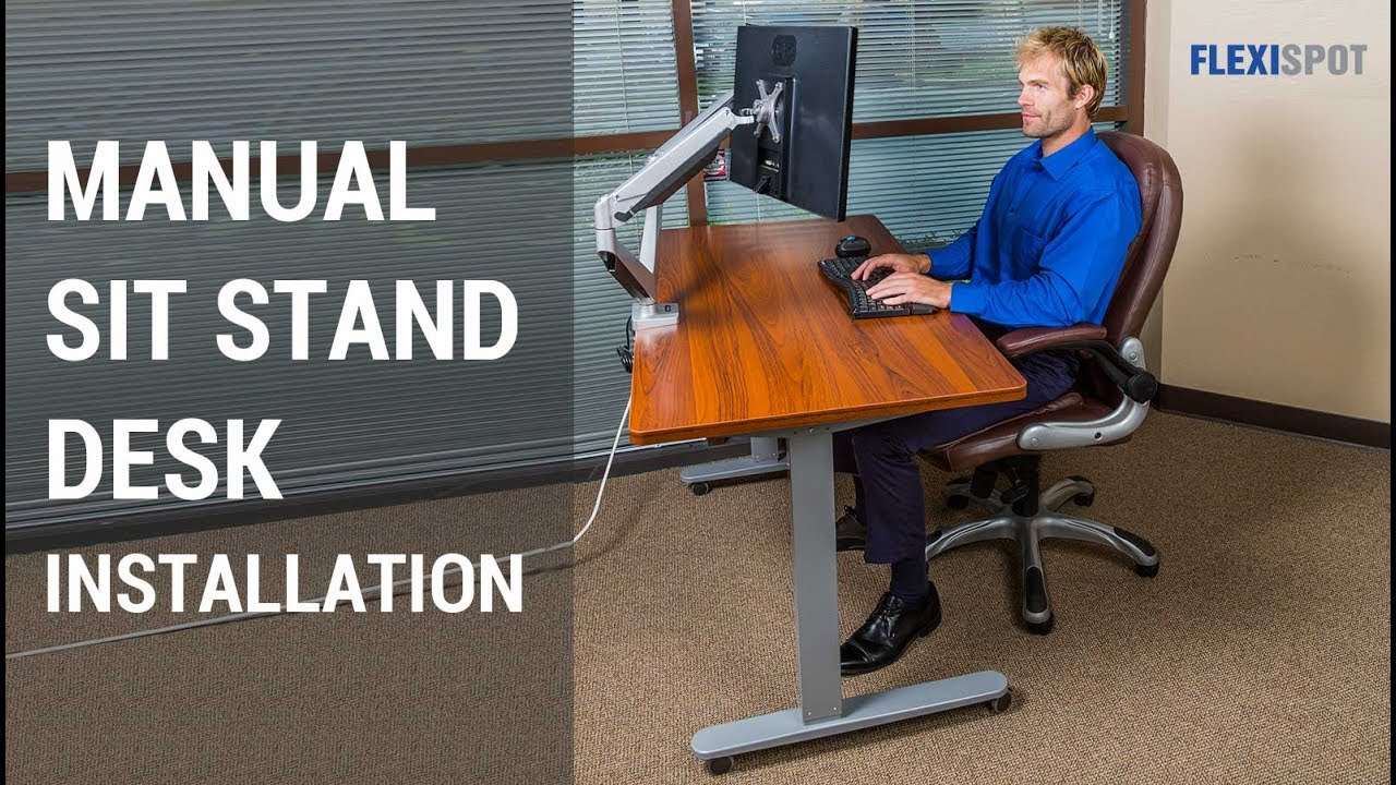 Flexispot 48 Manual Height Adjule Sit Stand Desk With Crank