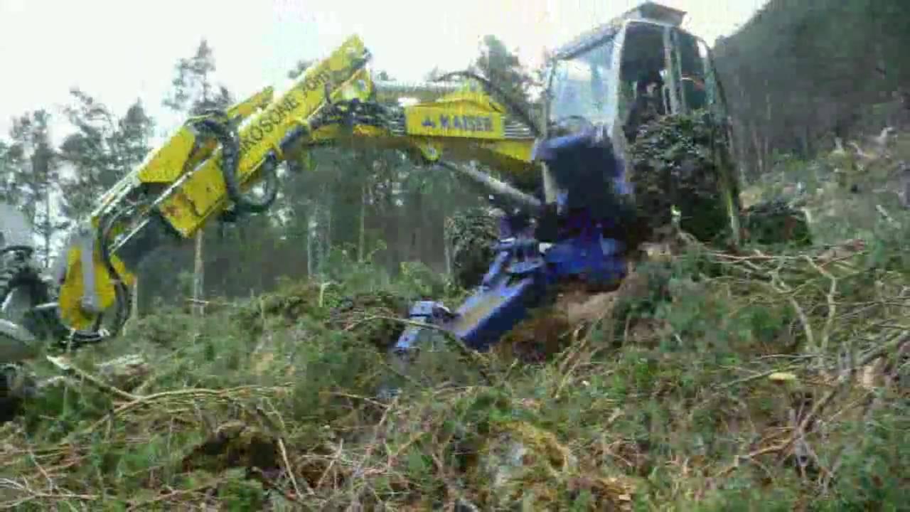 Wallpaper Woody Car Kaiser S 3 Forest Harvester Walking Excavator Spyder