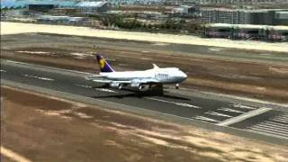 Fsx Pmdg 747 Landing in Mallorca X