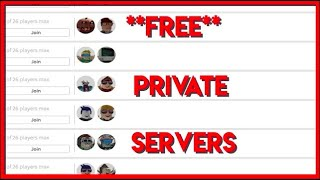 HOW TO GET **FREE** PRIVATE SERVERS IN ROBLOX (MOBILE)