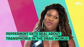 'Drag Race' runner-up Peppermint opens up about transphobia in the drag world