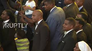 USA: Farrakhan calls Florence 'judgement of God' against America