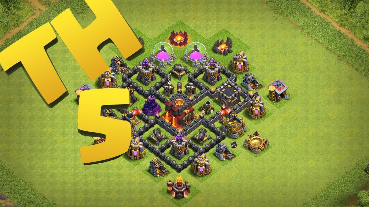 clash of clans new best town hall 5 defense strategy clan war