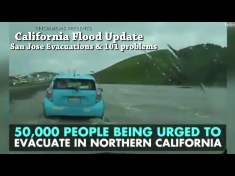 100 year Flood in San Jose - 50,000 Evacuations in California Flood