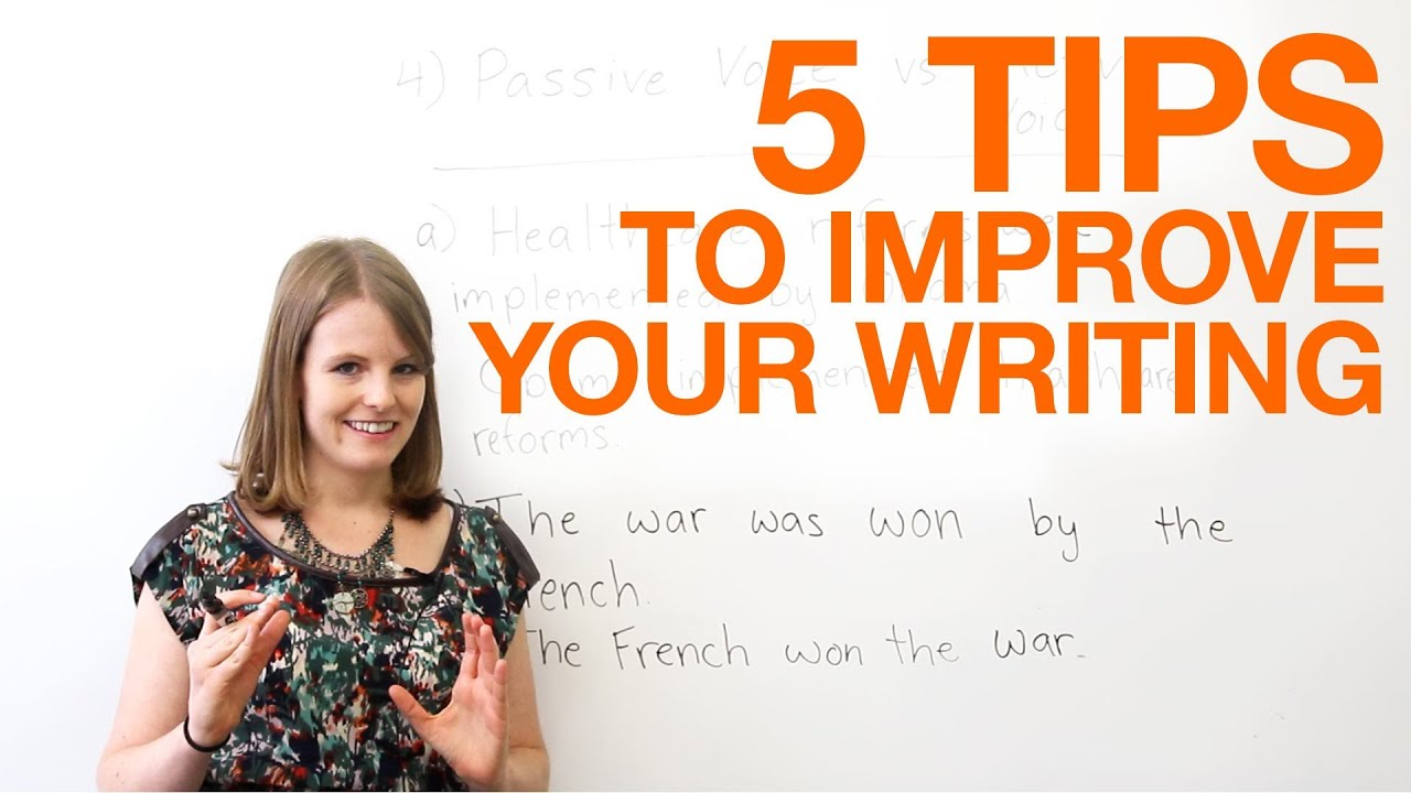 5 tips to improve your writing  YouTube