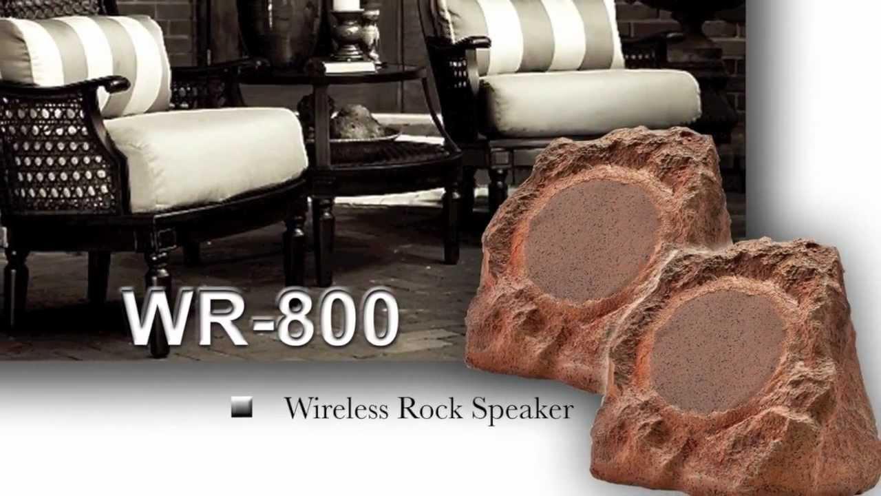 Wireless Outdoor Rock Speakers Pair
