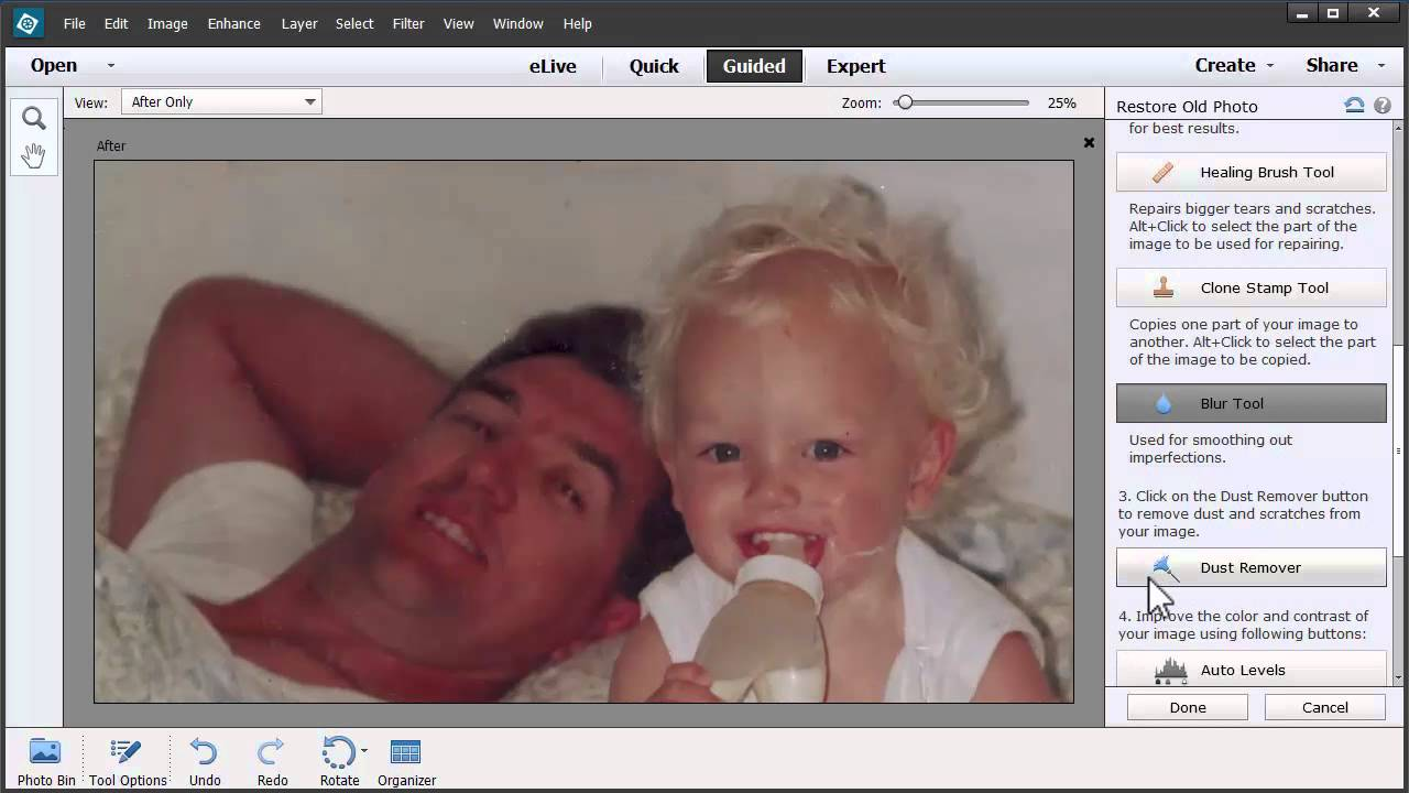 How to fix color cast in photoshop elements - Restore Old Photo In Photoshop Elements 13