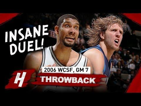 Dirk Nowitzki vs Tim Duncan INSANE Game 7 Duel Highlights 2006 NBA Playoffs - MUST SEE!