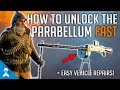 How to unlock the Parrabellum Suppressive FAST! +Easy Vehicle Repairs   Battlefield 1