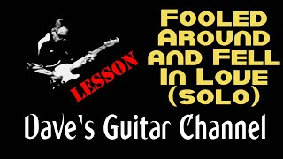 LESSON - Elvin Bishop's Fooled Around & Fell In Love solo