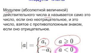 Модуль числа. Геометрический смысл модуля. Свойства модуля