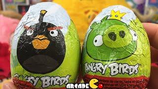 Kinder Surprise Eggs: Angry Birds Surprise Eggs Bad Piggies Kinder Surprise Eggs