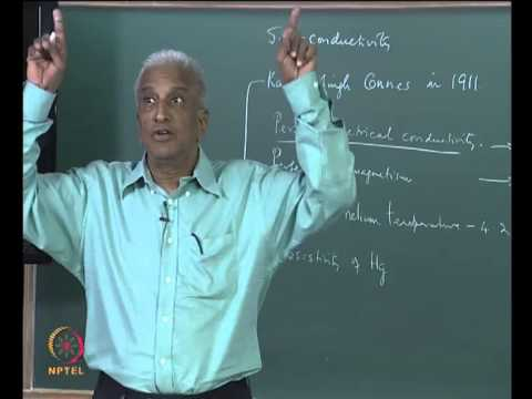 Mod-01 Lec-27 Superconductivity - Perfect Electrical Conductivity and Perfect Diamagnetism
