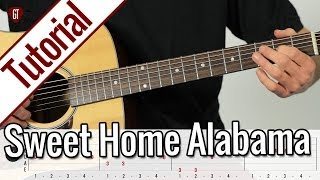Lynyrd Skynyrd - Sweet Home Alabama | Gitarren Tutorial Deutsch