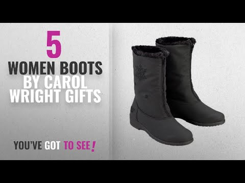 Top 10 Carol Wright Gifts Women Boots [2018]: Carol Wright Gifts chromatics by Totes Snowflake