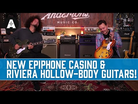 Epiphone's Classic Casino & Riviera Hollow-Body Guitars have Returned!
